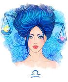 Libra zodiac sign as a beautiful girl — Stock Photo