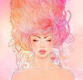 Mode-schöne frau mit langen haaren — Stockfoto
