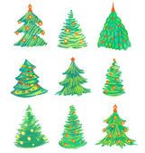 Christmas tree set — Stock Photo