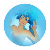 Pisces astrological sign as a beautiful girl — Stock Photo