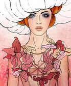 Virgo astrological sign as a beautiful girl — Stock Photo