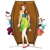 Shopaholic — Stock Vector