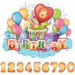 Happy birthday set — Stock Vector #37965931