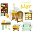 Nursery baby — Stock Vector