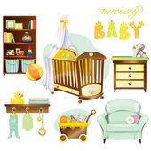 Nursery baby — Stock Vector