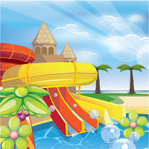Aqua park — Stock Vector