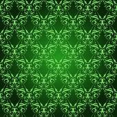Vintage Damask seamless pattern on green — Stock Photo