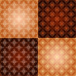 Set filigree damask seamless patterns — Stock Photo