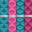 Set filigree damask seamless patterns — Stock Photo #39559131