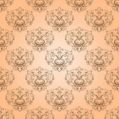 Vector  seamless with damask elements. — Stockvektor