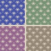 Набор из четырех старинных бесшовные — Cтоковый вектор