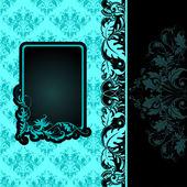 Vector frame on seamless background — Stock Vector