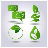 Vector set environmental protection — Stock Vector