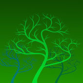 Vector green trees on background — Stockvektor