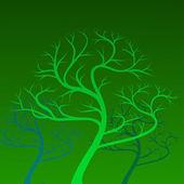 Vector green trees on background — Vetorial Stock