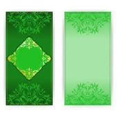 エレガントなパターンを持つ王室の招待カード — ストックベクタ