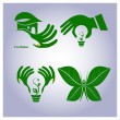 Vector set of ecology icons — Stock Vector
