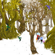 Fairy tale forest in winter — Stock Photo