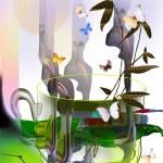 Teacup with green tea — Stock Photo #44935973