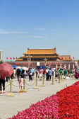 Beijing, Tiananmen Square, Forbidden City — Stock Photo