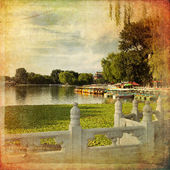 Houhai Lake, Beijing, China — Foto Stock