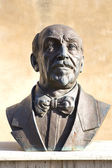 Bronze statue of Luigi Pirandello — Stock Photo
