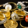 Precious jewels — Stock Photo