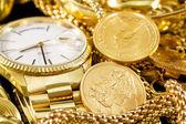 šperky, zlato, — Stock fotografie