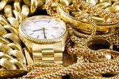 Schmuck, gold, — Stockfoto