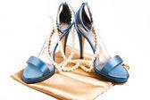 天上的鞋子 — 图库照片