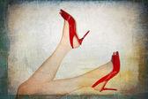 Yüksek topuklu giyen kadın mükemmel bacaklar — Zdjęcie stockowe