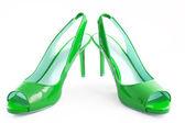 绿色的鞋 — 图库照片