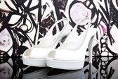 Weiße Schuhe — Stockfoto