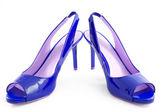 Blue shoes — Stock Photo