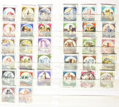 Old postage stamps from Italy — Foto de Stock