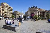 Palermo, Teatro Politeama — Stock Photo