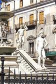 Palermo, Piazza Pretoria — Foto Stock