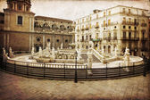 Palermo, Piazza Pretoria — Stok fotoğraf