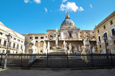 Palermo, Piazza Pretoria — Stock Photo