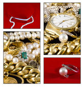 Gold jewels — Stock Photo
