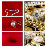 Gold jewels — Foto Stock