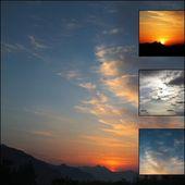 Sunsets and sunrises — Stock Photo