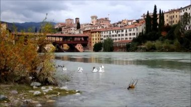 Bassano del Grappa, Veneto, Italy — Stock Video