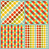 Vector seamless patterns with squares and circles — Stockvector