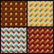 Set of patterns with rhombuses and zigzags — Stock Vector #38584913