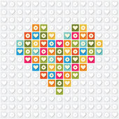 Illustration of heart on a white background — Stock Vector
