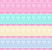 Wedding vector set of lacy ribbons — Cтоковый вектор