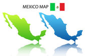 Mexican map — Stock Vector