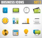 Business ikoner — Stockvektor