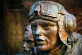 Close-up of part of the Battle of Britain monument on the Embankment in London — Stock Photo